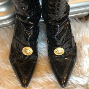 Versace Shoes - My Gorgeous VERSACE Patent Leather Crocodile Boots